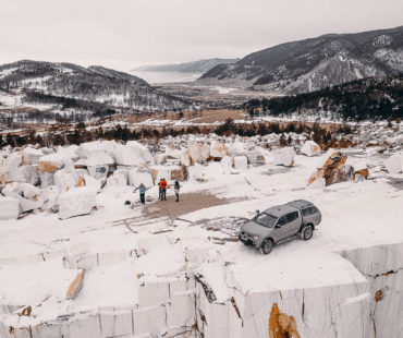 Мраморный карьер на Байкале